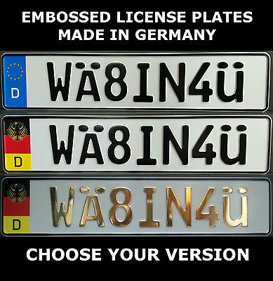 WÄ8IN4Ü German Germany European License Plate Euro Number Plate Alu Embossed
