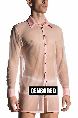 MANstore Men's M660 Brit Shirt Designer Transparent See Through Smart Twist