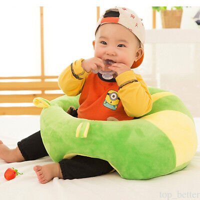 Baby Support Seat Learn sit Soft Chair Cushion Sofa Plush Pillow Toys 2 COLORS