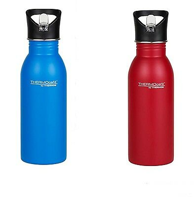 THERMOS THERMOCAFE Stainless Steel Single Wall Hydration Bottle 500ml - Red/Blue