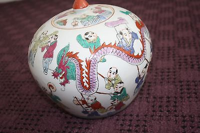 Chinese 100 boys vase / ginger jar in excellent condition   Hand painted RARE