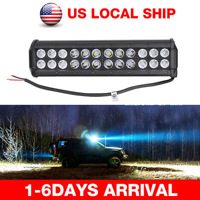 "12"" 120W LED Bar Light Flood Spot Combo Beam Offroad Work Driving Lamp Dual Row"