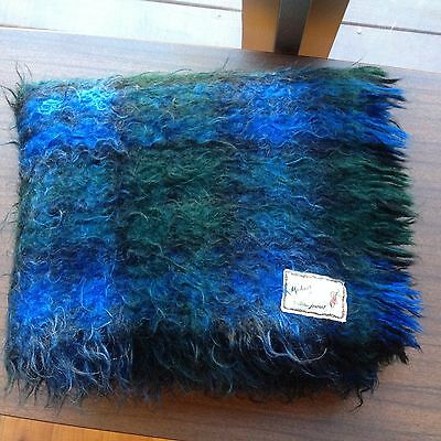 Andrew Stewart Mohair Wool Mix Throw Rug Blanket Made In Scotland