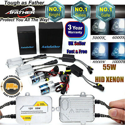 55W HID KIT Xenon Car Headlight Ballast For H7 H1 H3 H8 H9 H11 9006/HB4 9005/HB3