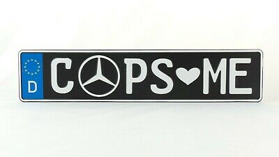 Cops Love Me German Germany Euro European License Plate Number Plate Ready Alu