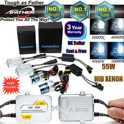 55W HID KIT Metal Ballasts High Low Beam XENON H7 H1 H3 H11/H9 9006/HB4 9005/HB3
