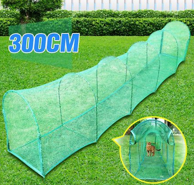 Deluxe Outdoor Foldable Cat Pet Exercise Walk Run Tunnel Training - Green