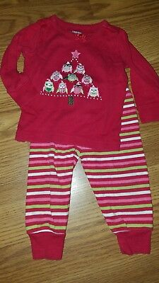 Gymboree Infant Girls Christmas Gymmies Owl 6-12M