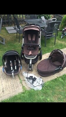 Quincy Buzz Travel System In Playground Brown With Maxi Cost Car seat ,carrycot