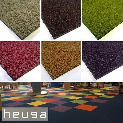 HEUGA Sherbet Fizz Fresh Flavours CARPET TILES Vivid Colour Hard Wearing Nursery