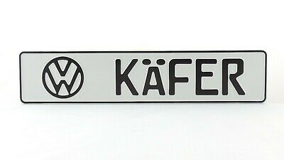VW Käfer German Germany Euro European License Plate Number Plate Ready Alu