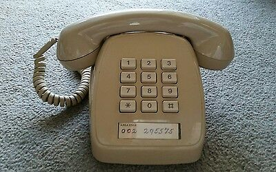 Retro Telephone Beige Push Button Original 1980s Telstra Phone