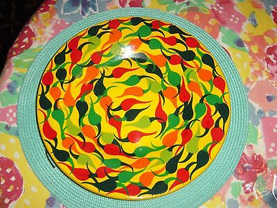 Mexican Pottery Hot Chili Pepper Hanging Plate!