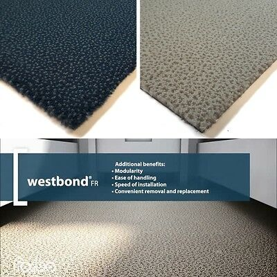 FORBO Westbond CARPET TILES Oxford Sorbet Pattern PVC Backing Hard Wearing NEW