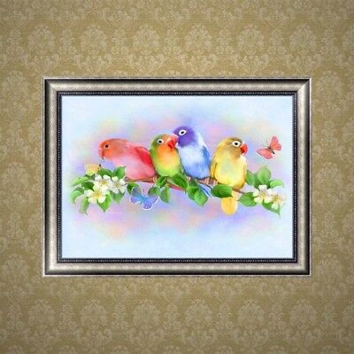 Colorful Parrot DIY 5D Diamond Embroidery Rhinestone Painting Cross Stitch