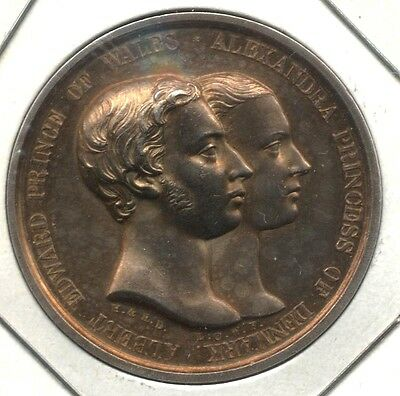Great Britain, 1863 Royal Wedding Medal, Sterling Silver 32mm L.C.Wyon