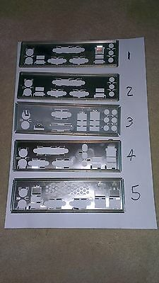 I/o Io Plate Back Shield Choice Of One For Atx Unknown Motherboard Pc Lot 1