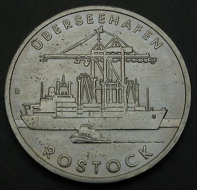 GERMANY (DDR) 5 Mark 1988 A - Copper/Nickel - Port City of Rostock - aUNC - 3235