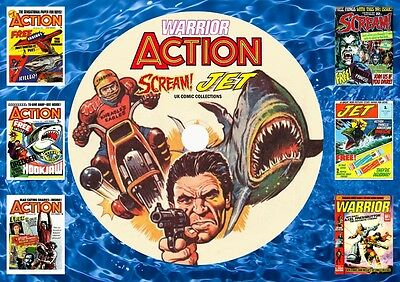 Action - Scream - Jet - Warrior Complete Comic Runs On DVD ROM