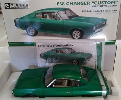 """New 1:18 1972 E38 Charger """"Custom"""" Green Matallic Opal by Classic Carlectables."""