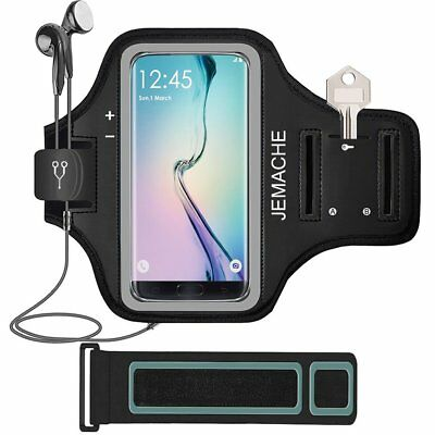 Galaxy S8+ Armband, JEMACHE Gym Running Workout Enhanced Arm Band for Samsung S8