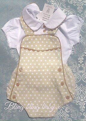 Baby Boys Spanish Romper 2 Piece Set Outfit Shorts Shirt 6-9 Months Romany