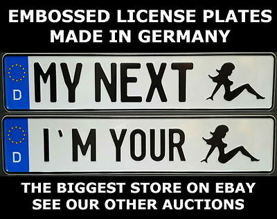 Girl Woman German Germany Euro European License Plate Number Plate Ready Alu