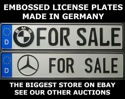For Sale BMW Mercedes Benz German Germany Euro European License Plate Alu