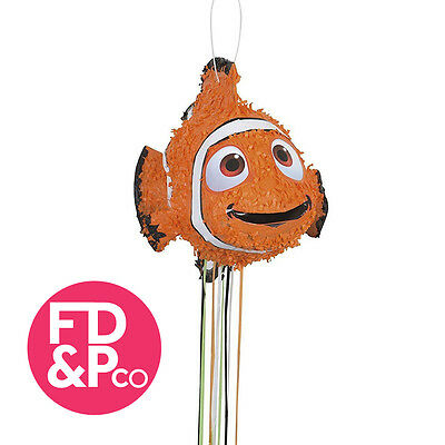 3D Disney Finding Dory Nemo Fish Shaped Pull String Pinata Party Game Decoration