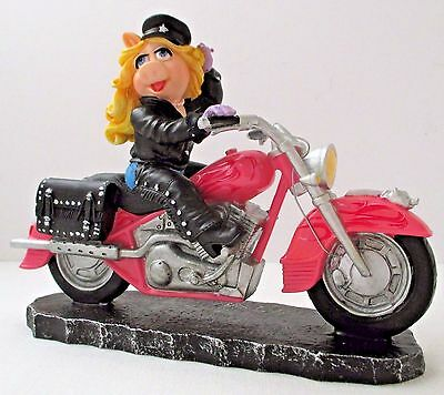 """Miss Piggy on Pink Motorcycle Hamilton Collection """"Moi Motorcycle"""""""
