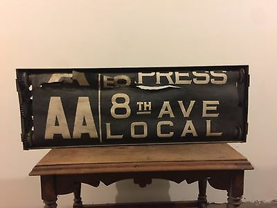 New York City NYC Subway Route 3 Roll Sign Box IND ISS