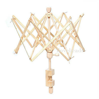 Knitting Umbrella Swift Yarn Winder Holder for Hanks Skeins Wool Ball Wooden