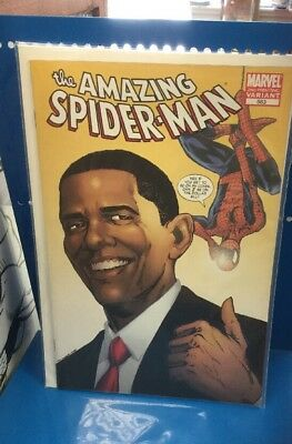 Marvel Comics . The Amazing Spider-Man #583 First Obama Variant Cover