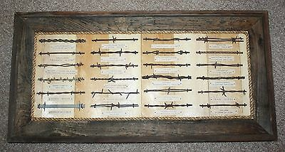 Antique Barbed Wire Collection Bobbed Wire 1800's Barb Wire Display Authentic