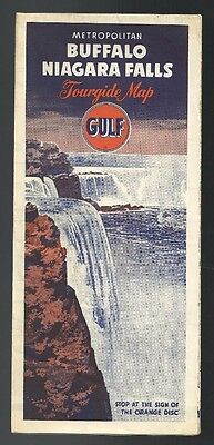 1950`s Gulf Buffalo/Niagara Falls Road Map