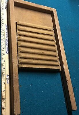 Rare All Wood Washboard planter primitive vintage americana