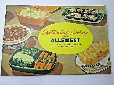 1960s Captivating Cookery with Allsweet Oleomargarine Swift CookBook 28p EX Cond