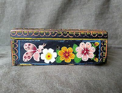 Vintage Olinala Lacquered Box. Mexican Folk Art