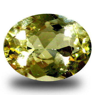 1.76 ct AAA Valuable Oval Shape (9 x 7 mm) Yellow Heliodor Beryl Gemstone