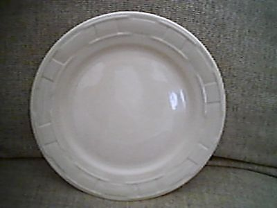 """Longaberger WOVEN TRADITIONS IVORY 10"""" Dinner Plate USA"""