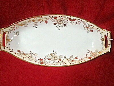 Vintage Porcelain 4 Piece Nippon Celery Tray, Salt Dishes And Spoon