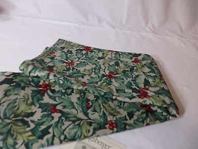 Longaberger Holly Berry Napkins (2) extra large
