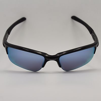 Oakley Quarter Jacket OO9200-16 Black Sport Wrap Frame Prizm Blue Mirrored Lens