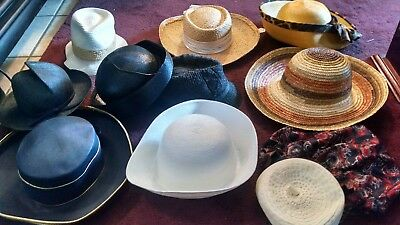 Mixed Lot Of 11 Womens Vintage Hats..assorted Styles..