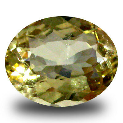 1.69 ct AAA Superior Oval Shape (9 x 7 mm) Yellow Heliodor Beryl Gemstone