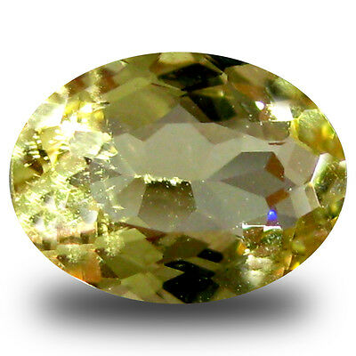 0.97 ct AAA Topnotch Oval Shape (8 x 6 mm) Yellow Heliodor Beryl Gemstone