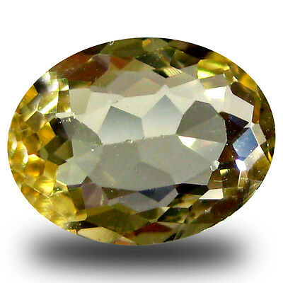1.23 ct AAA First-class Oval Shape (9 x 7 mm) Yellow Heliodor Beryl Gemstone