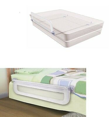 Bed Rail Guard Infant Toddler Grow with Single Reliable White Bedrail Safe Net