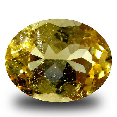 1.18 ct AAA Topnotch Oval Shape (8 x 6 mm) Yellow Heliodor Beryl Gemstone