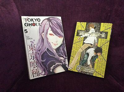 tokyo ghoul and deathnote books, new.